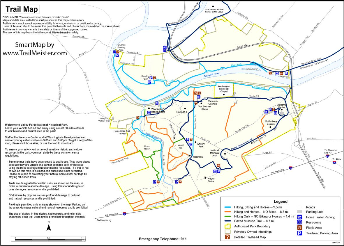 Popular 169 List Valley Forge Trail Map