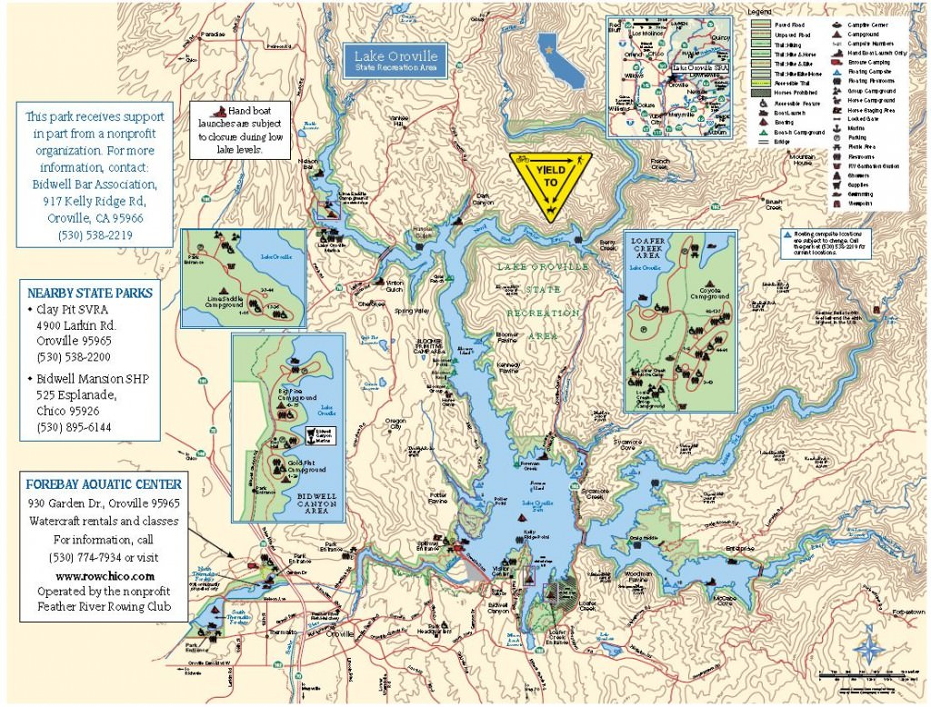 lake oroville camping map Lake Oroville State Recreational Area Trailmeister lake oroville camping map