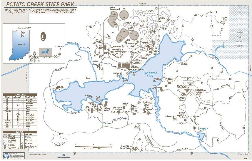 Potato Creek State Park Trailmeister: Potato Creek State Park Map At Usa Maps