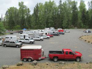 Horse trailer parking at Taylor - Photo by Olga D.