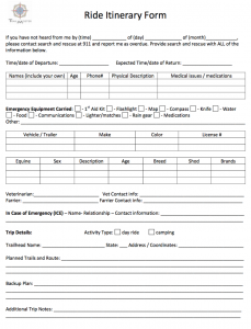 RIDE PLAN FORM