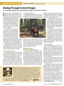 Oregon mule camping article