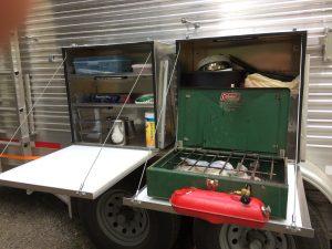 DIY camp kitchen boxes